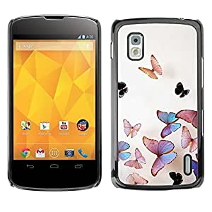Cubierta protectora del caso de Shell Plástico || LG Google Nexus 4 E960 || Iridescent Pink Nature @XPTECH