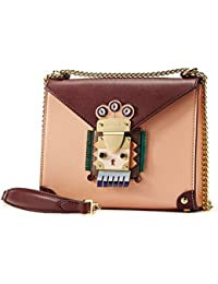 Crossbody Bags for Women Nappa Leather Shoulder Bag with Chain Strap Indian Style Padlock Niche Chic Purse