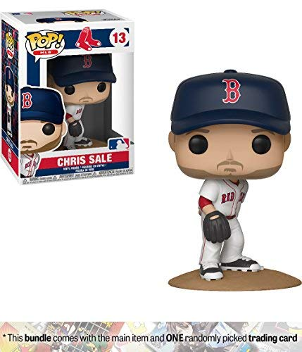 Funko Chris Sale [Boston Red Sox]: x POP! MLB Vinyl Figure + 1 Official MLB Trading Card Bundle [#013 / 30244] - Baseball Card Sales