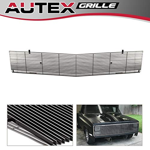 AUTEX C85202A Polished Main Upper Phantom Billet Grille Replacement For GMC Suburban/Jimmy 1981-1988,GMC C/K Pickup 1981-1987,Chevy Blazer/Suburban 1981-1988,GMC Jimmy/Suburban 1981-1988