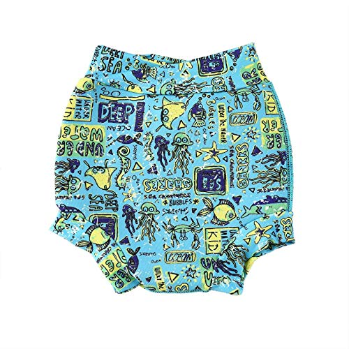 (Baby and Toddler Neoprene Reusable Swim Nappy Baby Boy Girl Swim Briefs Baby Neoprene Trunks Shorts Wetsuits Briefs)