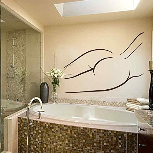 Nude Woman Wall Decal Bathroom Vinyl Stickers Nude Silhouette Spa Beauty Salon Decor Home Interior Design Girls Room Decor Bath Art Murals(White, 29
