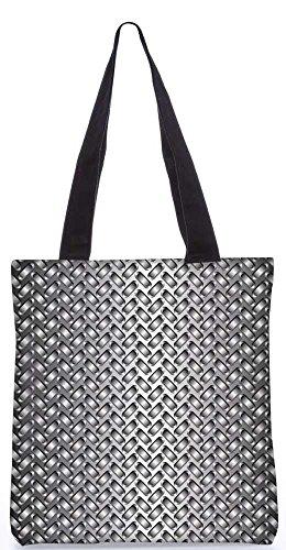 """Snoogg Rosa Und Blaue Muster-Einkaufstasche 13,5 X 15 In """"Shopping-Dienstprogramm Tragetasche Aus Polyester Canvas"""