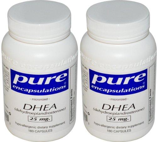 Micronisée DHEA 25mg - Pure Encapsulations - 180 capsules (pack de 2)