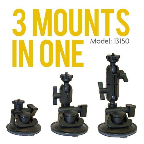 Panavise 13150 ActionGrip 3-In-1 Suction Cup Camera Mount Kit (Matte Black)