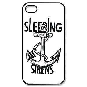 Elegant Design TPU Case Back Cover Case Sleeping With Sirens for iPhone 5sBlack052802