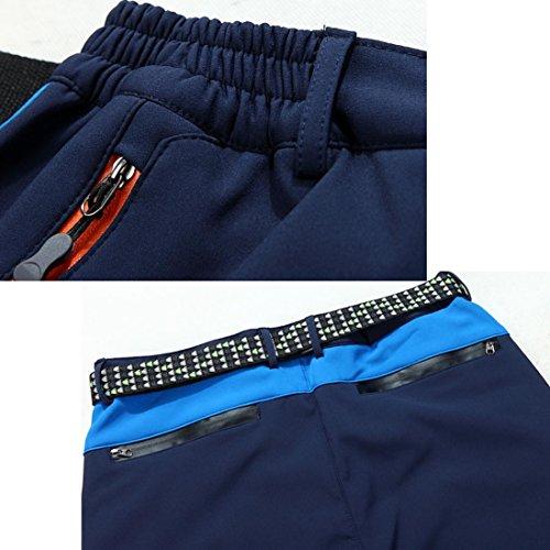 Clearance Sale! Men Pants WEUIE Waterproof Windproof Outdoor Sports Warm Winter Thick Pants Trousers (34-41 Waist, Blue) by WEUIE Men's Clothing (Image #2)