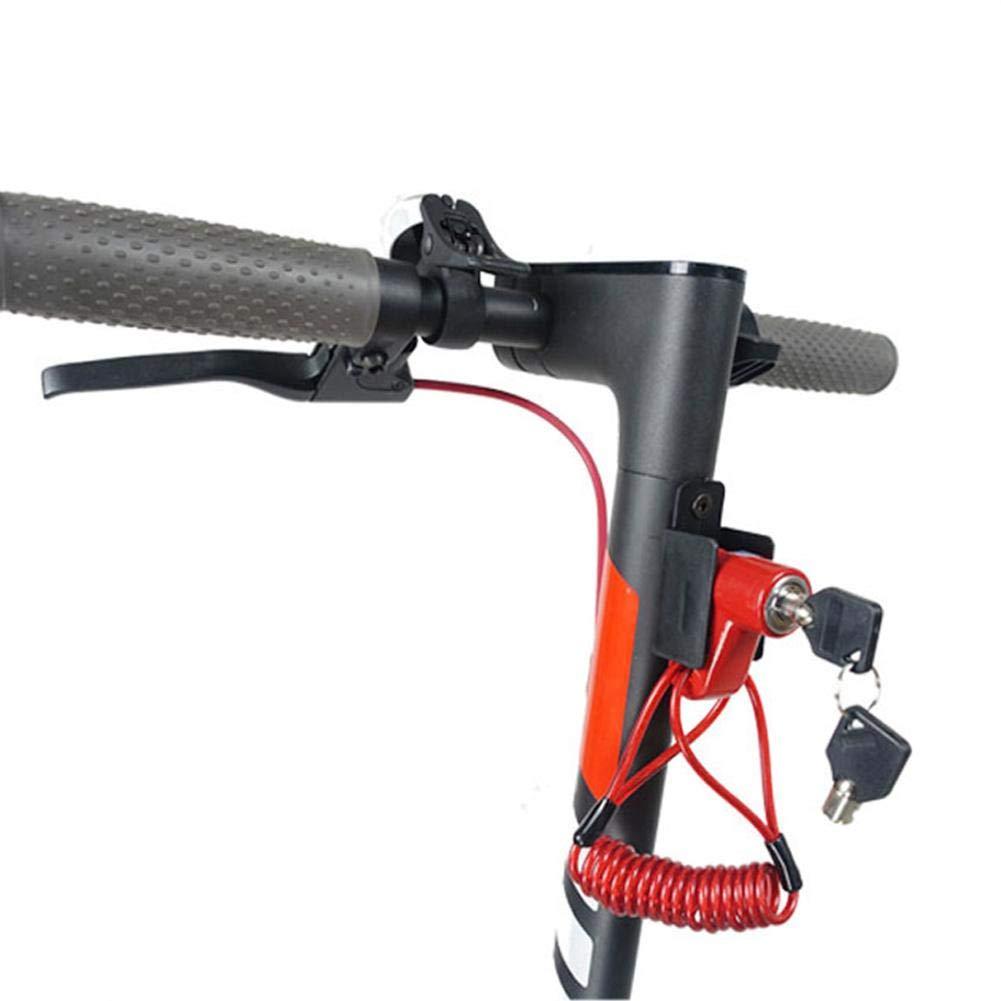 Househome Para los Accesorios de Scooter el/éctrico Xiaomi Pro Bloqueo de Bicicleta antirrobo de Alta Seguridad con Llave Bloqueo de Freno de Disco Bloqueo de Seguridad antirrobo Scooter