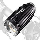 SHANREN SR-BL30 Super Bright 8-watt 1044LM LED Bike Light (Cree MK-R+Mobile Power Bank 10400mAh), Black/Silver