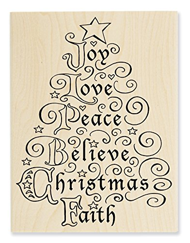 STAMPENDOUS R275 Rubber Stamp, Joy (Mouse Christmas Card)