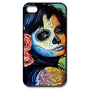 JCCFAN Day of the dead 1 Phone Case For Iphone 4/4s [Pattern-2]