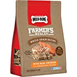 Milk-Bone Farmer's Medley Whole Grain Dog Treats With Real Chicken, 12-Ounce Pouch, Pack of 4