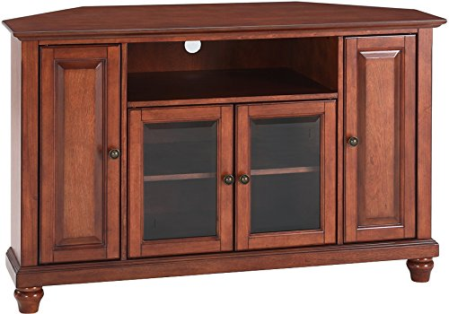 Cherry Stand Tv Classic - Crosley Furniture Cambridge 48-inch Corner TV Stand - Classic Cherry