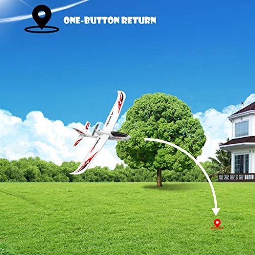 WWFFOO RC Airplane With 2.4GHz 6-Axis Gyro 761-2 RTF Plane For Beginners Remote Control Ready Easy to Fly Outdoor Toys Sports Good for Adluts Safe Select for Small Flight Club Party (White) by wwffoo (Image #7)