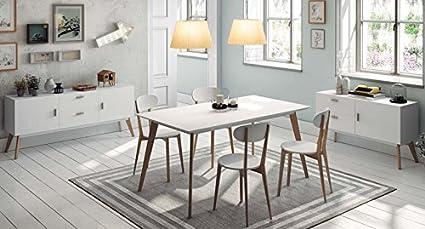 Mesa de Comedor de estilo Nórdico : Colección SUECIA de 160x76x90 ...