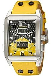 Stuhrling Original Men's 255B.3315G65 Leisure Mad man Digital Quartz Chronograph Perpetual Calendar Yellow Watch