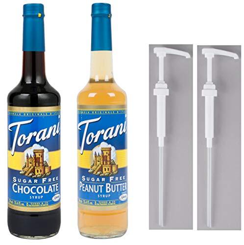 - Torani Sugar Free Chocolate & Sugar Free Peanut Butter with 2 Pumps
