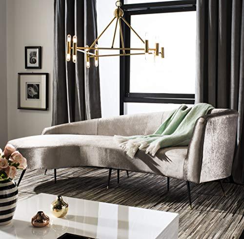 (Safavieh SFV2101B Home Collection Evangeline Champagine Parisian Sofa,)