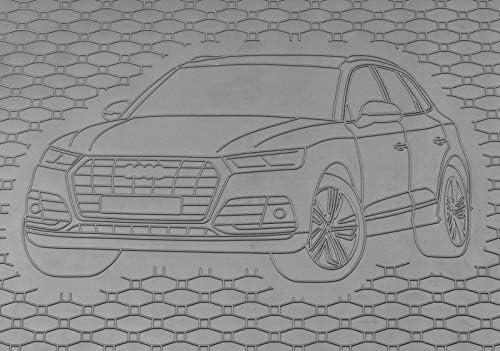Rigum Passende Gummimatten und Kofferraumwanne Set geeignet f/ür Audi Q5 ab 2017 Gurtschoner