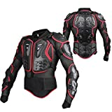 GES Motorcycle Body Protective Jacket Guard Motorbike Motorcross Armour Armor Racing Clothing Protection Gear (XL(Black and Red))