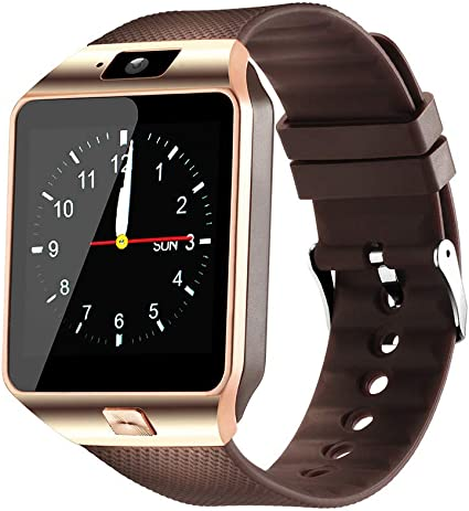 Qidoou Smart Watch Bluetooth Fitness Tracker Android iOS Compatible Smartwatch of SIM SD Card Slot, Waterproof Pedometer Sleep Calorie Monitor ...