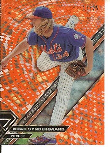 Baseball MLB 2017 High Tek Pattern 1B Pixel Circle Orange Magma Diffractor #HT-NS Noah Syndergaard 11/25 Mets by 2017 topps high tek