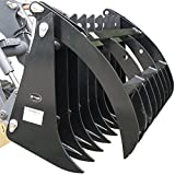 "72"" Root Grapple Rake Skid Steer Clamshell Attachment rock tractor bobcat"