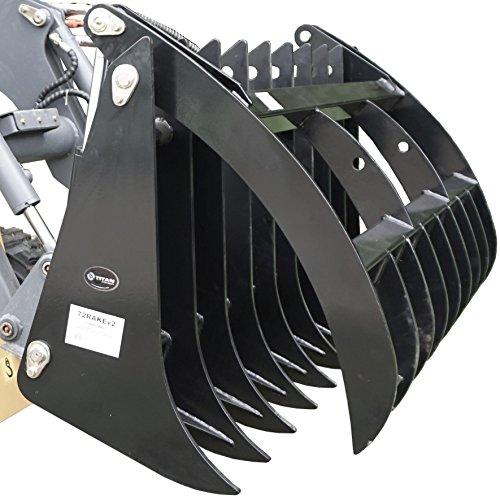 "60"" V2 Root Grapple Rake Clamshell Attachment bucket skid..."