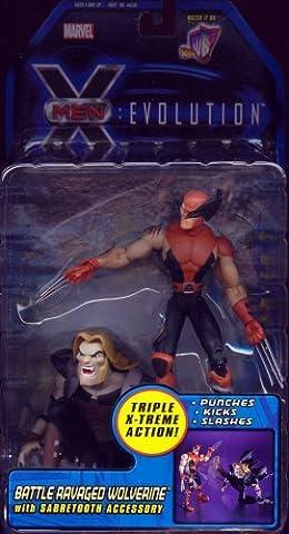 Battle Ravaged Wolverine from X-Men Evolution Action Figure (Xmen Evolution Series)