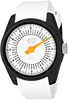 40Nine Men's 'Solo' Quartz Plastic and Silicone Casual Watch, Color:White (Model: 40N4.1.2)