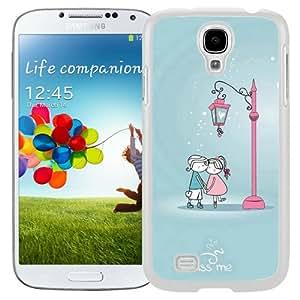 Cute Lover Couple Under Streetlight (2) Durable High Quality Samsung Galaxy S4 Case
