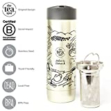 The Tea Spot, Voyager Tea Tumbler, Double-Wall Insulated Stainless Steel Tumbler with removable