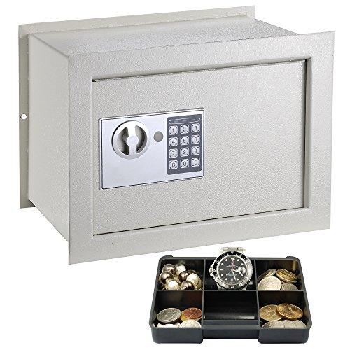 Yescom In-Wall Inground Electronic Flat Safe Box Digital Keypad Lock Cabinet Home Security Jewel Gun Cash 11