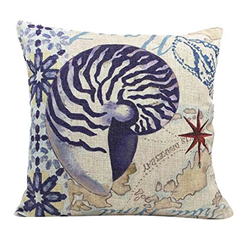 Monkeysell Mediterranean style pillowcases,Home decoration Cotton linen square decoration fashion