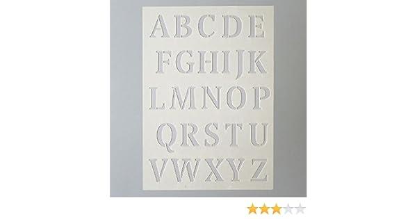 Efco Plantilla Letras Grandes 26 Designs Plastico Pransparent A5