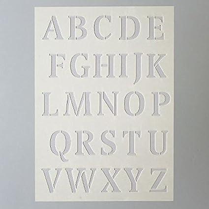 Efco Plantilla Letras Grandes 26 Designs Plastico Pransparent