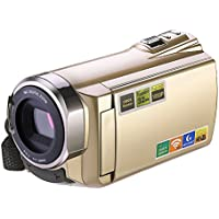 Camcorder, HDV-5052 1920x1080p Digital Video Camera Camcorder, Nice2MiTu Camcorder with Wifi and Infrared Night Vision (Golden)