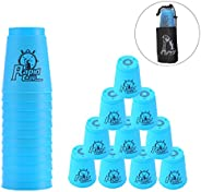 Erlsig Quick Stacks Cups 12 Pack of Sports Stacking Cups Speed Training Game Challenge Competition Party Toy w