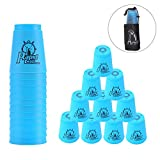 Erlsig Quick Stacks Cups 12 Pack of Sports Stacking Cups Speed Training Game Challenge Competition Party Toy with Carry