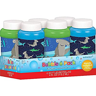 amscan Shark Bubbles | Party Favor | 6 Ct.: Toys & Games