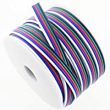 RGBSIGHT 40FT 18 Gauge RGBW LED Strip Extension Cable 18AWG 5pin 5 Color Stand Wire for RGBW RGBWW LED Ribbon Lamp Tape Lighting (40 Feet per Spool)