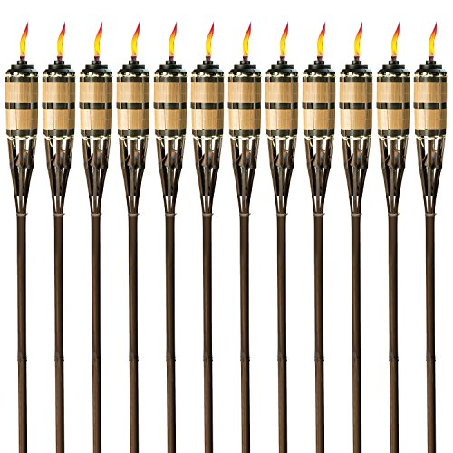 Tiki Brand 1117071 Cypress Brown 12-Pack Torch, 60-Inch,