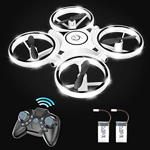 Eoyizw Drone for Kids and Beginners RC Helicopter Quadcopter with Led Lights Altitude Hold Infrared Obstacle Avoidance…