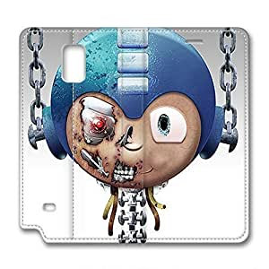 iCustomonline Leather Case for Samsung galaxy Note 4, Mega man Ultimate Protection Leather Case for Samsung galaxy Note 4