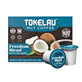 Tokelau Keto Coffee Pods With Collagen Creamer, Keto Collagen to promote intestinal health and restore youthful skin, hair, nails - no added sugars, no dairy