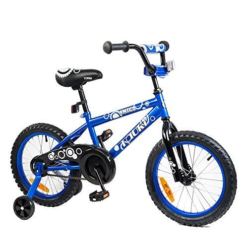 Tauki Kid Bike BMX Bike for Boys and Girls, 16 Inch, Blue, 9
