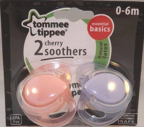 Amazon.com: Tommee Tippee látex cereza Chupetes 0 – 6 M: Baby