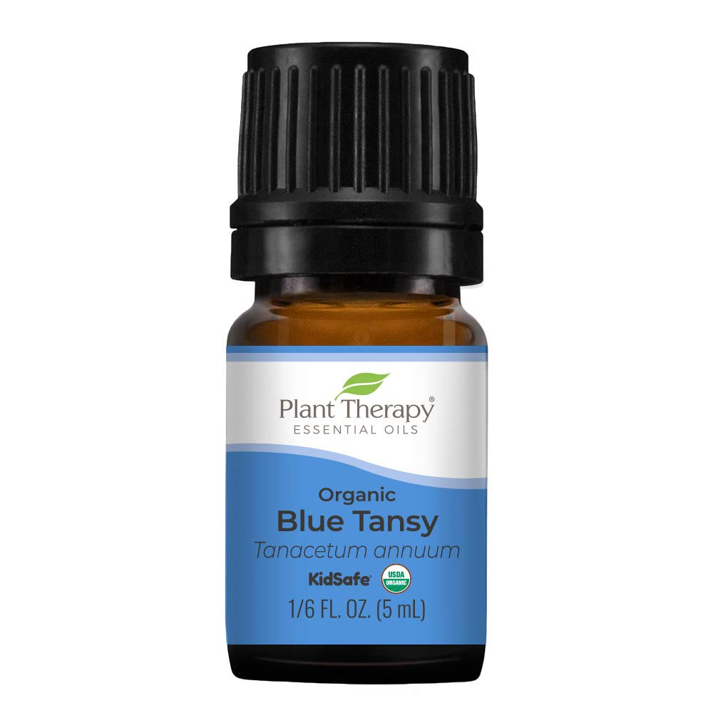 Plant Therapy Organic Blue Tansy Essential Oil 100% Pure, Undiluted, Natural Aromatherapy, Therapeutic Grade 5mL (1/6 oz)