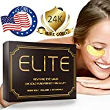 Under Eye Mask for Dark Circles - 24K Gold Eye Collagen Patches | 15 Pairs