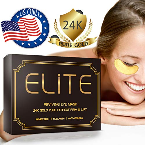 Under Eye Patches for Dark Circles - 24K Gold Eye Collagen Mask | 15 Pairs by Elite